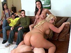 Kayla Carrera, Jamie Valentine, Julie Cash, Kiara Marie, Kendra Lust  Professional Hot Pornstar asses in a college dorm