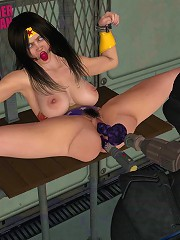 Cock crazed SuperGirl is penetrated