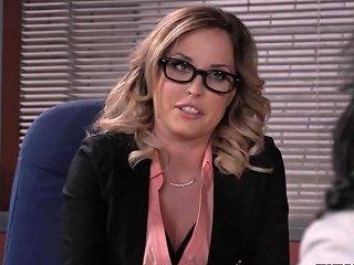 Sucking Off Her Boyfriend In Office