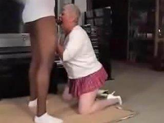 BBW Granny Sloppy Blowjob