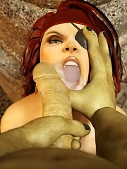 3D Boss grab virgin 3D Orc and gets banged
