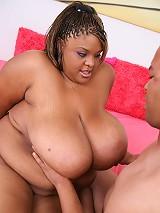 Ebony BBW gets her fat booty screwed