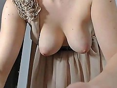 Girl Nice Tits Get Orgasm With Tips