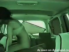 Amateur  Films Homemade Video Of Their Banging In The Car