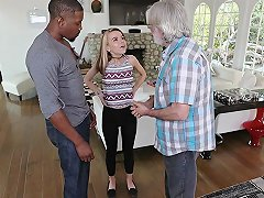 Amateur Teen Alina West Bangs With A Black Dude