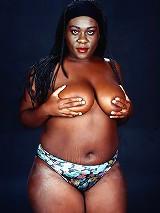 Ebony Whale Slut with Black Tits Showing Black Booty