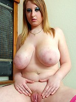 Teen Skarlett plays with her bazzookas and tight shaved cunt