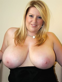 Hot blondie with extreme gigantic natural knockers