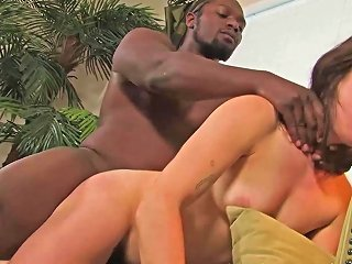 Amalia Gets Her Hairy Pussy Fucked Hard By A Black Dude
