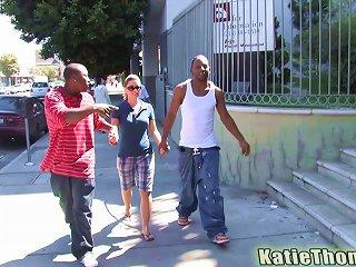 Two Black Hommies Are Fucking Katie Thomas