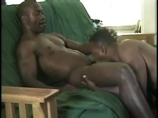 Muscular Black Gays Drill Each Other's Butts After Mutual Cock-sucking