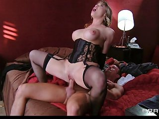 Maya Hills In A Corset Taunts Her Man With Her Big