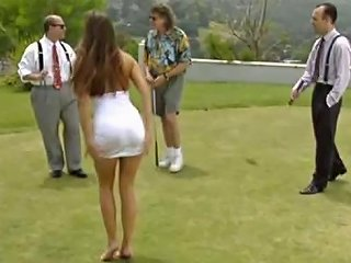 Her Shaved Pussy Will Be Good Hole For Playing Golf