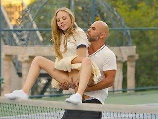 First Anal For Tennis Student Aubrey Star