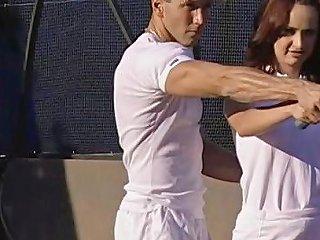 I'll Teach You How To Play Tennis Double Penetration
