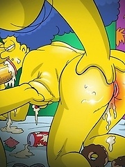 Sexy toons drinking and fuck...