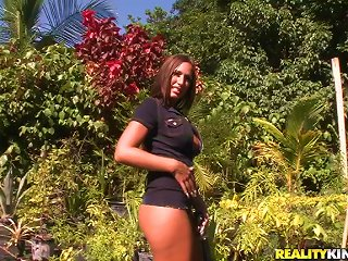 Lexxy Gets Her  Cunt Licked And Banged From Behind In The Garden