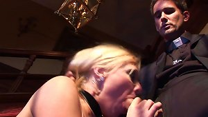 Classy Couple Gets It Going In The Living Room