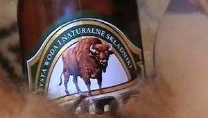 Beer Bottle In Cunt Free Amateur Porn Video 0f Xhamster
