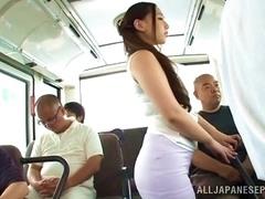 Curvy Sayuki Kanno Gives Head In A Subway Train