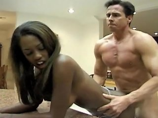 A Pretty Black Girl Gives A Rimjob And Rides A Dick In A Kitchen