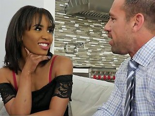 Emotional And Sexy Chocolate Sweetheart Demi Sutra Is Poked From Behind