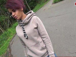German Ebony Teen Hitchhiker Public Fuck Pick Up