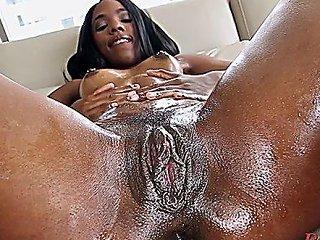Voracious Ebony Maiden Sarah Banks Adores Blowjobs A Lot