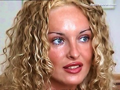 Curly Hair Blonde Beauty With Big Tits Strips For Porn Casting