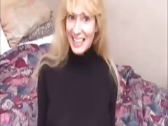 Blonde Mature Mouth, Hand Action