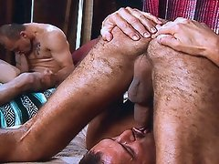2 Gays men sucking on their own cock, watching the other man
