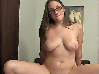 Nerdy College Girl Start Off A Foursome In Dorm Room Bed