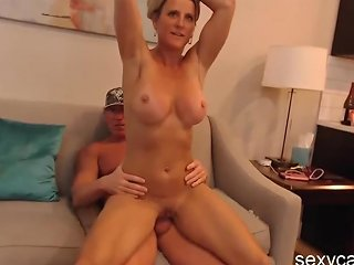 Busty Blonde Milf Gets Anal Fucked In Hardcore Foursome Live At Sexycamx Com