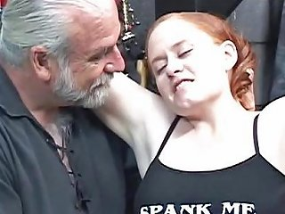 Redhead Bbw Kirsten Gets Her Fat Ass Whipped By Master