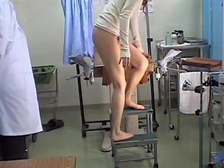 Teen Japanese Hottie Fucked With A Dildo During Gyno Exam