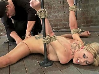 Flexible Blond Milf Is Tied In The Splits We Cane Flog Make This Mom Cum Like A Whore Hogtied Txxx Com