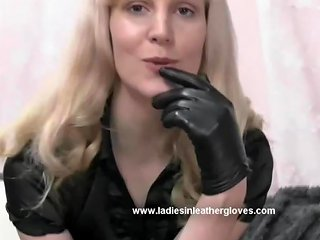 Blonde Milf In Leather Gloves Make You Kinky Fetish