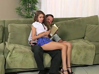 Rebel Lynn Has Always Enjoyed Sitting On The Laps Of Older Men