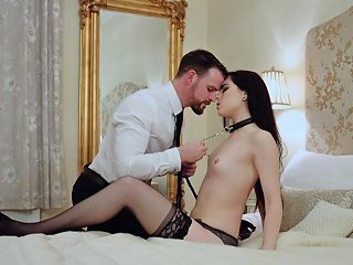 Erotic Lingerie Hottie In A Collar Made Love To Erotically Any Porn
