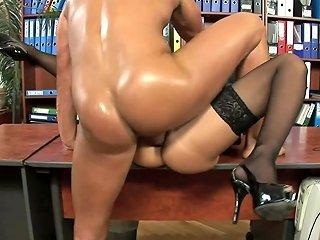 Office Slut Goes Dirty On Her Boss