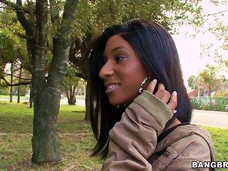 Brunette Ebony Slut Knockout  Nadia  And Sex