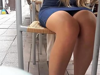 Cute Yng Gf's Sexy Legs Miniskirt Under Table Free Porn 48