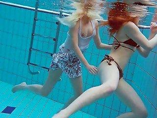 Zealous Katrin Bulbul Enjoys Underwater Nude Swimming With Hot Girl