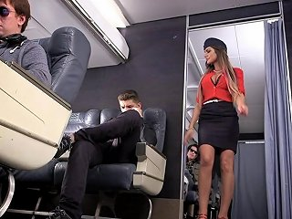 Leggy August Ames Plays A Naughty Stewardess That Loves Dick Any Porn