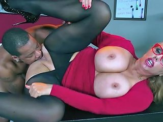 Black Cock To Pelase This Horny Blonde Cougar