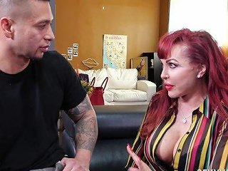 Redhead Mature Sexy Vanessa Makes Him Hard With A Bj And Rides