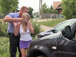 Neighbor Fucks Nasty Nextdoor Blonde Myra Leon Right On The Lawn