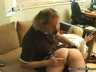 Soft Schoolgirl Ass Given Real Spanking