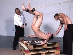 Cute guy gets fucked hard in anal with fucking machine on these free movies