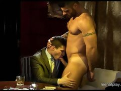 Sexy muscle stud gets his ass fingered and then fucked hard